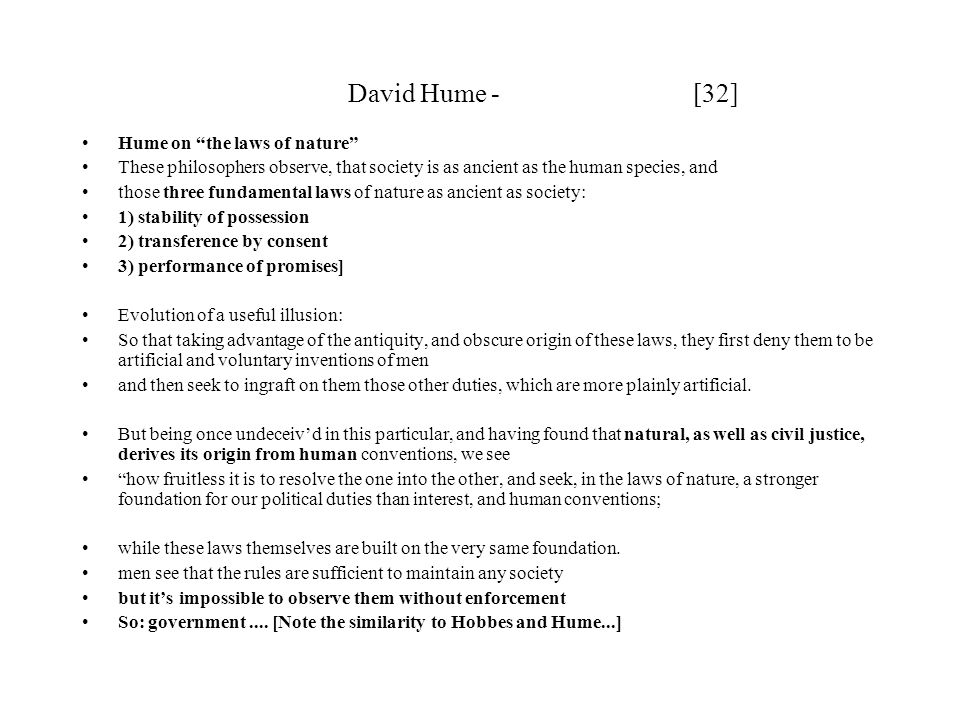 David Hume - [32] Hume on the laws of nature
